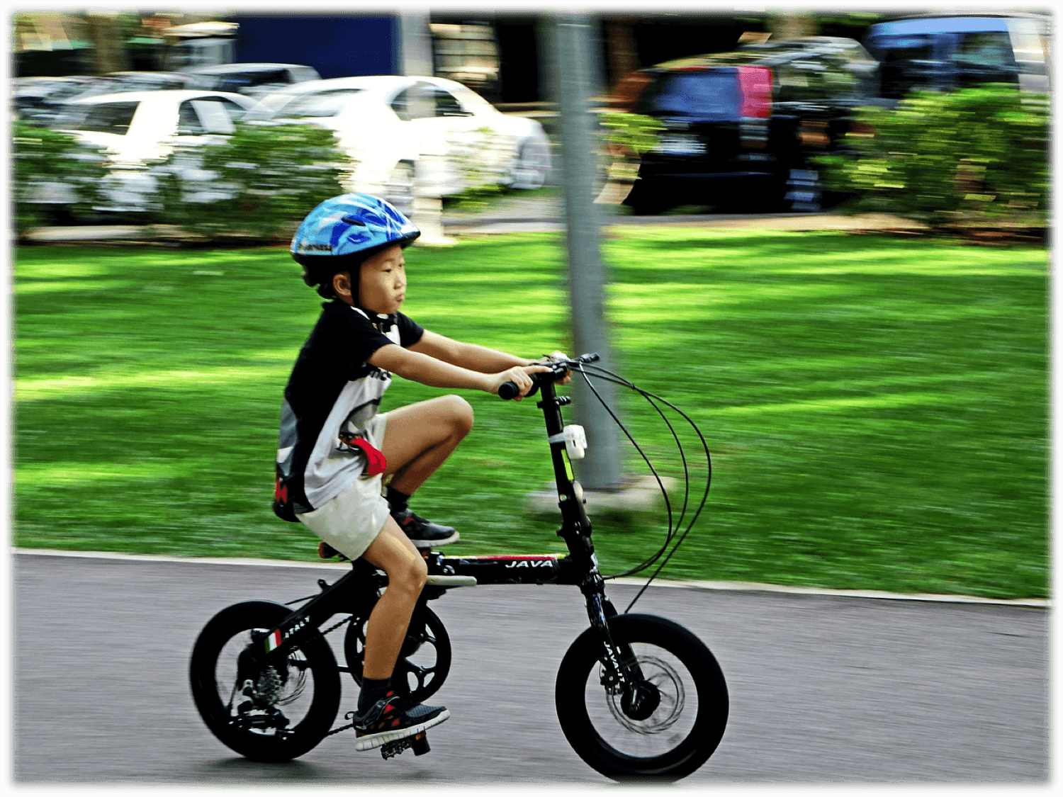 Bicycling is a potentially fun and highly beneficial hobby for young  children. A child who rides a bicycle gains an advantage in developing  their ...